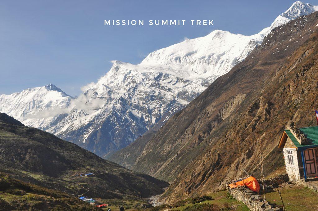 Himalayan view from Annapurna Trek