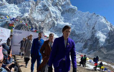 Mount Everest fashion Runway