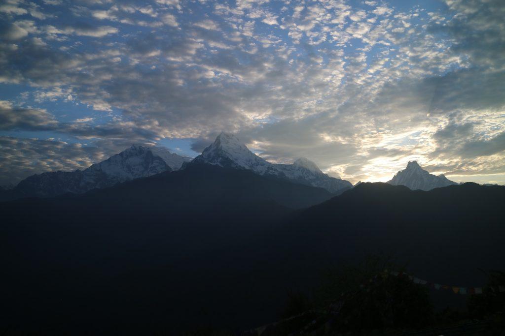 View from Poonhill in monsoon. 4 days Ghorepani poonhill Trek