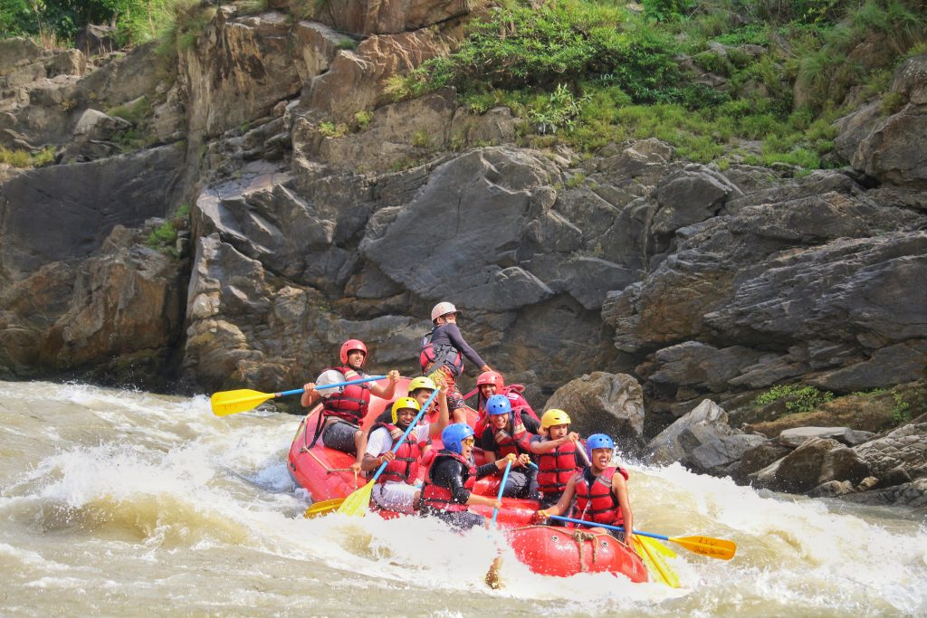 White water rafting on the Trishuli River
